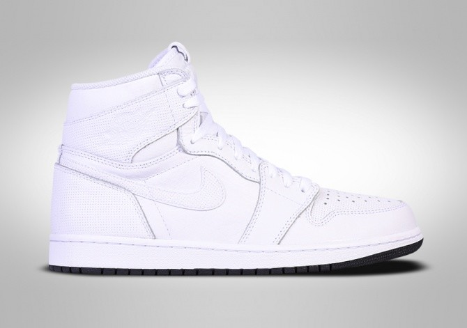 official photos more photos release info on NIKE AIR JORDAN 1 RETRO HIGH OG WHITE PERFORATED PACK per ...