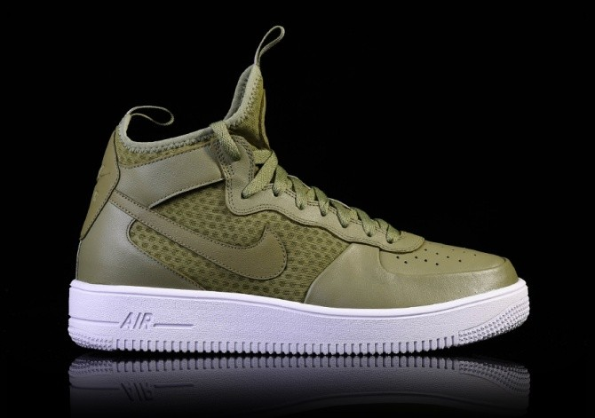 bfa44398932c5 NIKE AIR FORCE 1 ULTRAFORCE MID PALM GREEN per €102,50 | Basketzone.net