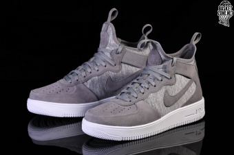new style 47029 45837 NIKE AIR FORCE 1 ULTRAFORCE MID PRM COOL GREY. 921126-003