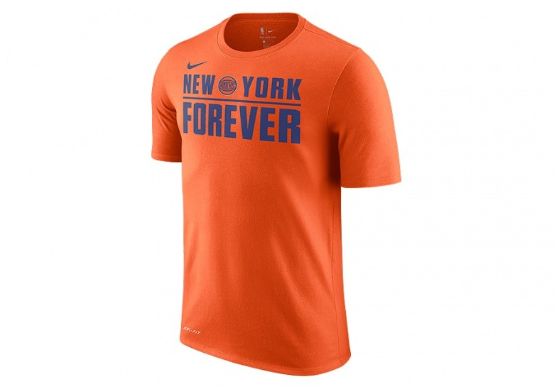 NIKE NBA NEW YORK KNICKS DRY TEE BRILLIANT ORNGE