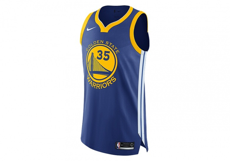 competitive price 976e4 4249f NIKE NBA GOLDEN STATE WARRIORS KEVIN DURANT AUTHENTIC JERSEY ROAD RUSH BLUE