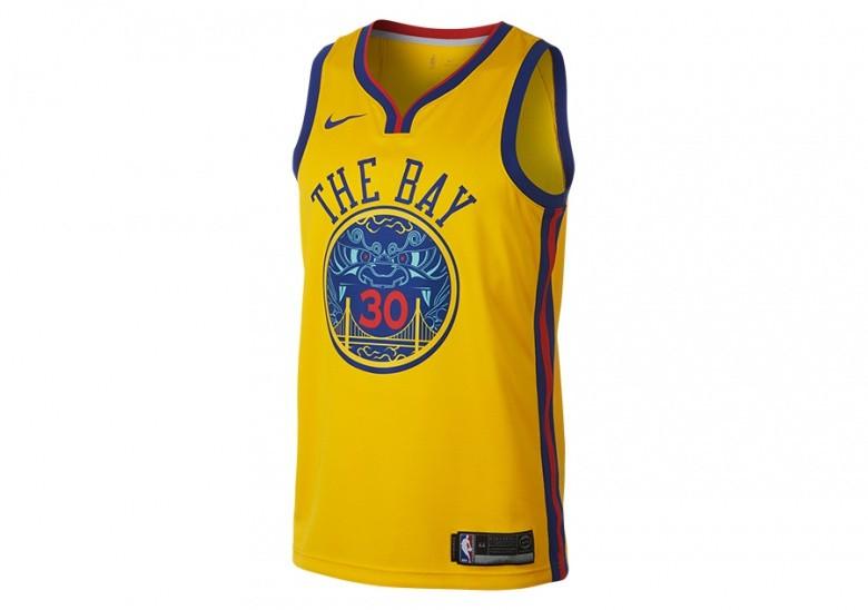 NIKE NBA GOLDEN STATE WARRIORS STEPHEN CURRY CITY EDITION SWINGMAN YELLOW
