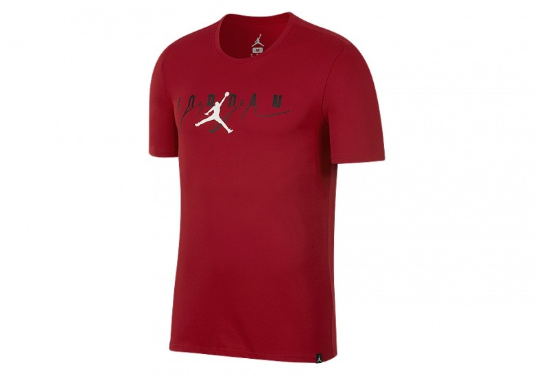 NIKE AIR JORDAN FLIGHT MASH-UP TEE GYM RED