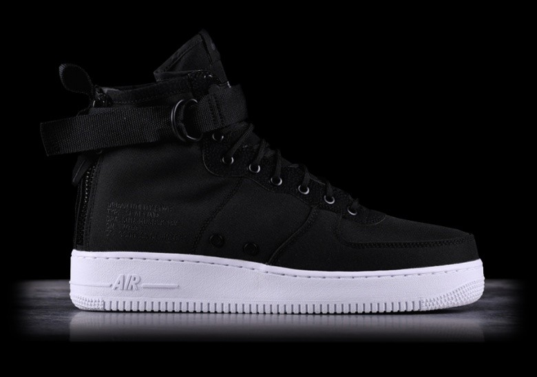8215c4d98be NIKE SF AIR FORCE 1 MID BLACK voor €122,50 | Basketzone.net