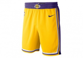 NIKE NBA LOS ANGELES LAKERS SWINGMAN ROAD SHORTS AMARILLO