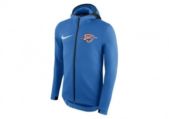 NIKE NBA OKLAHOMA CITY THUNDERM THERMAFLEX HOODIE SIGNAL BLUE