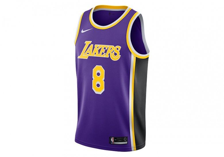 NIKE NBA LOS ANGELES LAKERS KOBE BRYANT SWINGMAN JERSEY FIELD PURPLE
