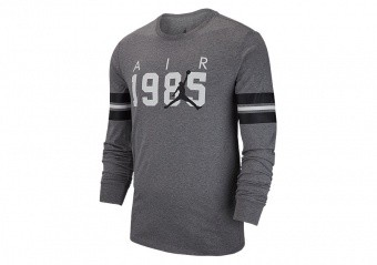 NIKE AIR JORDAN SPORTSWEAR FA BRAND 6 TEE CARBON HEATHER