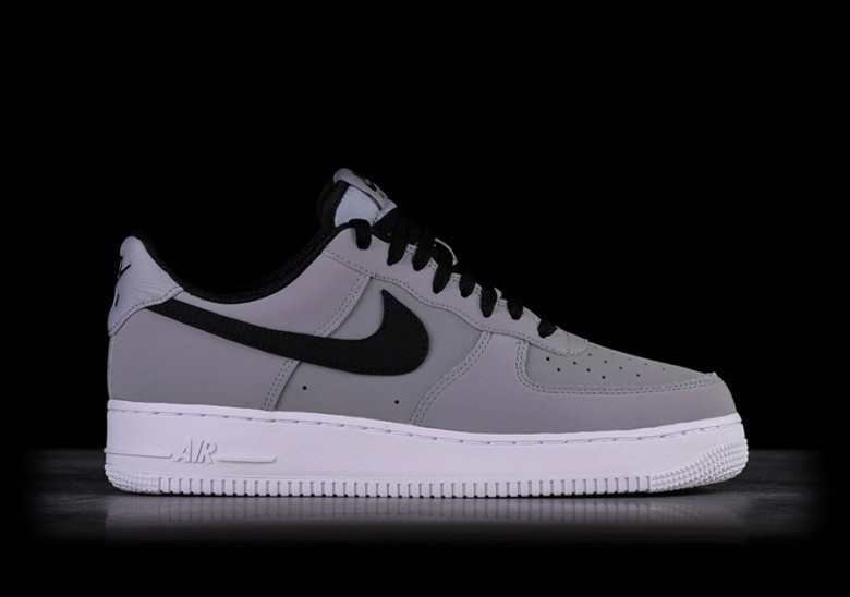 online store 61889 aa7d7 NIKE AIR FORCE 1  07 LEATHER GREY BLACK