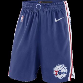 NIKE NBA PHILADELPHIA 76ERS SWINGMAN ROAD SHORTS