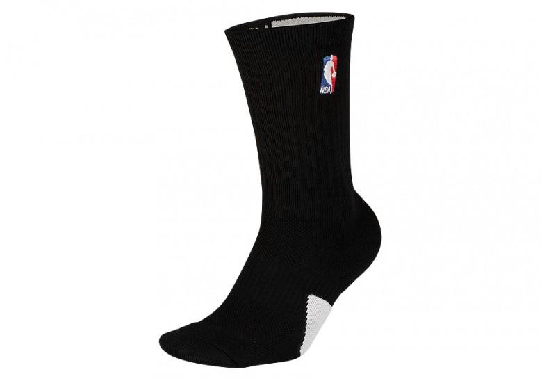 NIKE AIR JORDAN CREW - NBA SOCKS BLACK WHITE