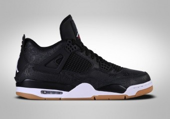 NIKE AIR JORDAN 4 RETRO BLACK LASER