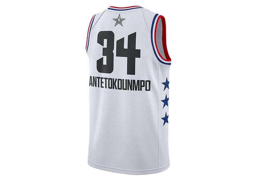 20f79b3f31e NIKE AIR JORDAN NBA ALL STAR WEEKEND 2019 GIANNIS ANTETOKOUNMPO SWINGMAN  JERSEY WHITE