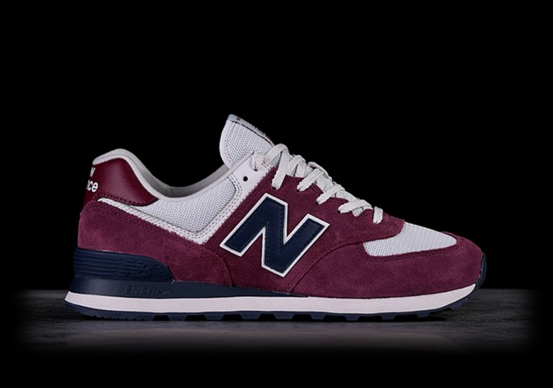 NEW BALANCE 574 SCARLET WITH PIGMENT