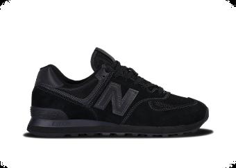 new balance 574 all black