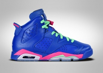 NIKE AIR JORDAN 6 RETRO GS GAME ROYAL BLUE PINK