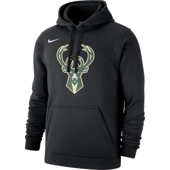 NIKE NBA MILWAUKEE BUCKS LOGO CLUB FLEECE HOODIE