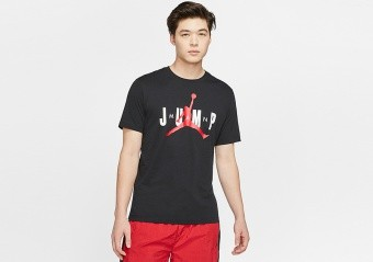 NIKE AIR JORDAN JUMPMAN CREW TEE BLACK