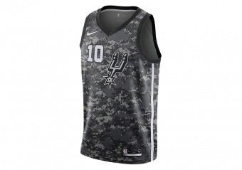 NIKE NBA SAN ANTONIO SPURS DEMAR DEROZAN CITY EDITION SWINGMAN JERSEY BLACK