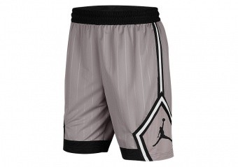 NIKE AIR JORDAN JUMPMAN DIAMOND STRIPED SHORTS ATMOSPHERE GREY