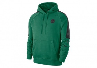 NIKE NBA BOSTON CELTICS COURTSIDE PULLOVER HOODIE CLOVER