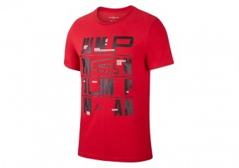 NIKE AIR JORDAN JUMPMAN DRI-FIT TEE GYM RED