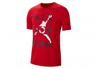 NIKE AIR JORDAN JUMPMAN STENCIL TEE GYM RED