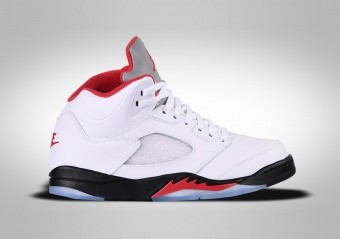 NIKE AIR JORDAN 5 RETRO PS FIRE RED SILVER TONQUE
