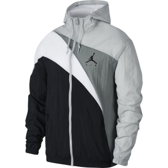 NIKE AIR JORDAN JUMPMAN WAVE WINDBREAKER JACKET LIGHT SMOKE GREY