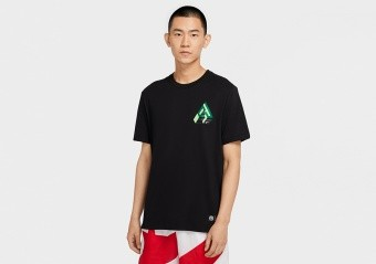 NIKE GIANNIS LOGO DRI-FIT TEE BLACK