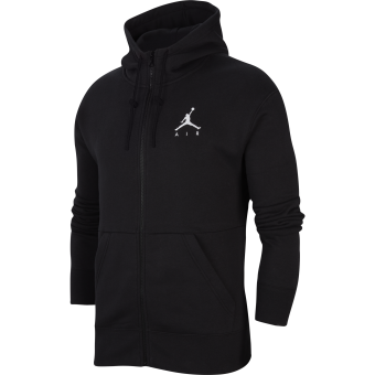 JORDAN JUMPMAN AIR FLEECE FULL-ZIP HOODIE BLACK