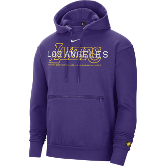 NIKE NBA LOS ANGELES LAKERS COURTSIDE PULLOVER HOODIE