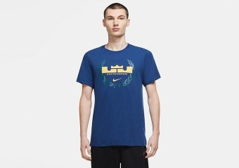 NIKE LEBRON JAMES LOGO DRI-FIT TEE COASTAL BLUE