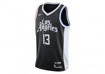 NIKE NBA LOS ANGELES CLIPPERS PAUL GEORGE CITY EDITION SWINGMAN JERSEY BLACK