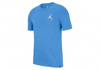 NIKE AIR JORDAN SPORTSWEAR JUMPMAN AIR EMBROIDERED TEE UNIVERSITY BLUE