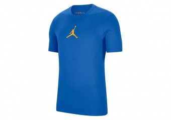 NIKE AIR JORDAN JUMPMAN DRI-FIT CREW TEE SIGNAL BLUE
