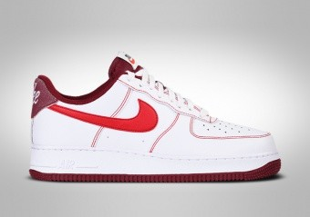 NIKE AIR FORCE 1 LOW FIRST USE WHITE TEAM RED